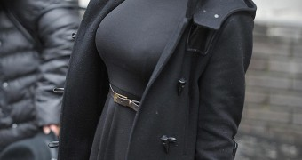 Kym Marsh In Black Coat