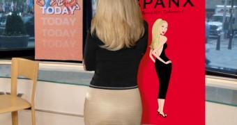 kathie Lee Gifford Modeling her Spanx