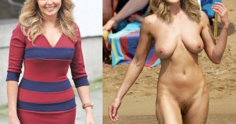 Carol Vorderman; dressed and in the nude?