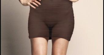 Alex Jones, see-thru dress for good causes