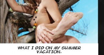 Captioned Celeb Fakes VII - What I did on my summer vacation
