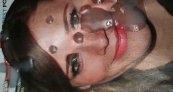 Rashida Jones with my hot cum