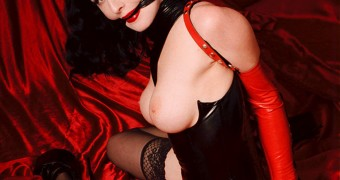 GOTH - Dita Von Teese - red curtains