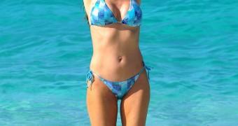 Denise Richards - Bikini Candids in Nassau