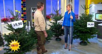 Fernsehfrauen mit schönen Beinansichten