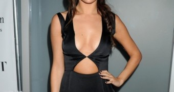 Selena Gomez Showing Off in Sexy Black Dress