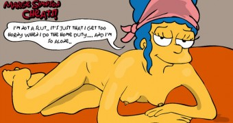 MARGE SIMPSON AND THE DUFFMAN (THE SIMPSONS)