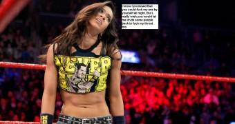 Celeb Slut WWE diva- AJ Lee