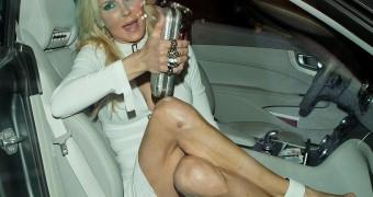 Brandi Glanville Pantyless Upskirt