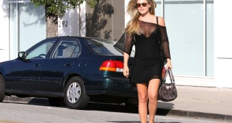 Ali Larter - Cleavage Candids in Los Angeles
