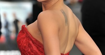 Michelle Rodriguez Red Dress Cleavage