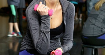 Katrina Bowden at the Gym Sports Old Navy Active in New York
