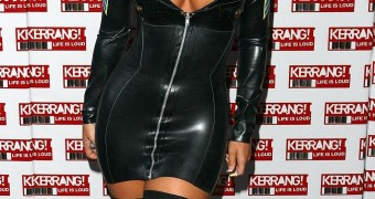 Holly Mcguire in latex dress