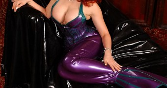 bianca beauchamp latex mermaid