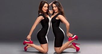 Bella Twins (black and white dress)