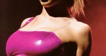 Cheryl Tweedy - Sexy Shiny Pink Outfit