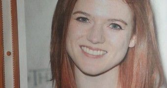 Rose Leslie gets her faces drenched