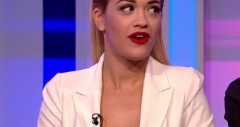 Rita Ora - The One Show - Bra less