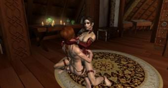 Olivia Wilde Lesbian Sex (Skyrim)