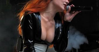 Gorgeous metal singer whore Simone Simons from Epica