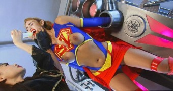 celeb miley cyrus as superheroine femdom dildo bondage