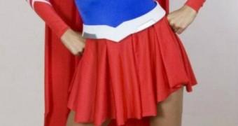 celeb paris hilton as supergirl femdom caption peril distress