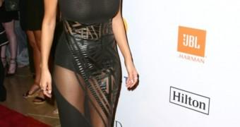 Nicole Scherzinger See Through at a Pre-Grammy Gala!