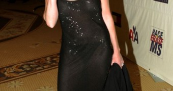 Shannen Doherty Black Shear dress