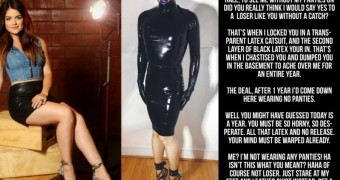 lucy hale latex cruel slave chastity captions
