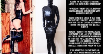 megan fox latex cruel slave chastity captions