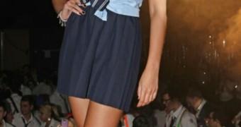 Michelle Keegan College Uniform Party