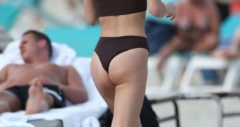 Sarah Snyder at the Beach