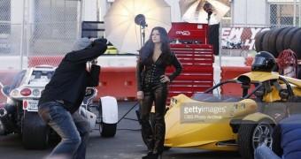 Danica Patrick - Leather Bodysuit