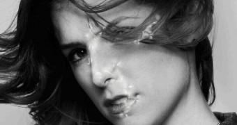 Anna Kendrick plastered