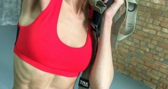sexy, ultra-skinny Ukrainian fitness-model - Myroslava Ulyanina