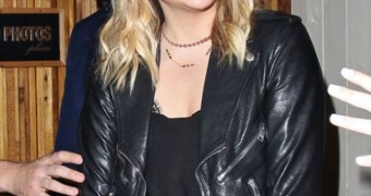 Chloe Grace Moretz - Out in leather.