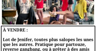 French caption (Français) Jenifer Bartoli aime les zizis
