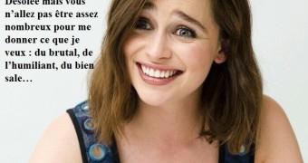 Emilia Clarke en captions