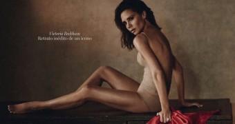 Victoria Beckham Leggy in Vogue