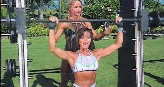 Kiana Tom & Monica Brant Mesh Bikinis Flex Appeal