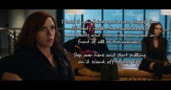 Black Widow Caption Story