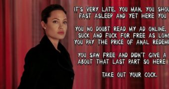 Angelina Jolie Femdom Caption Story