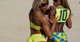 Patricia Mello & Regiane Da Silva! Making Brazil Proud!