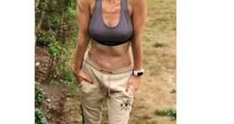 Sarah Dunn. Nipples and Swimwear.