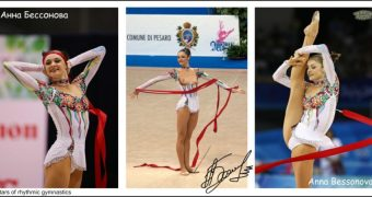Anna Bessonova. Ukrainian star of rhythmic gymnastics. All my fa