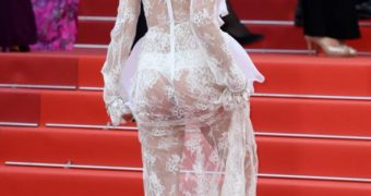 Sara Sampaio Ass - sheer white dress