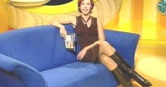 German TV Presenter in Boots