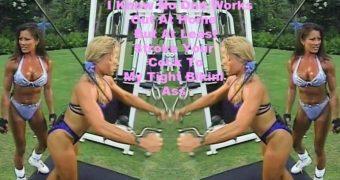 Monica Brant Blue Bikini Flex Appeal Ass Jerk Challenge