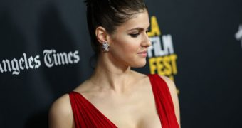 Alexandra Daddario - tits out at LA Film Festival