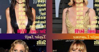 Celebrity Slut Contest Emma, Emily, Jennifer, Taylor (Self Made)